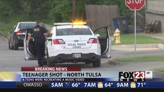 Tulsa minor shoots friend in the back recreating music video