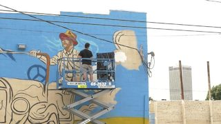 WATCH: Mural painted at 11th and Peoria