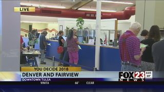 VIDEO: Polls for early voting in Oklahoma open