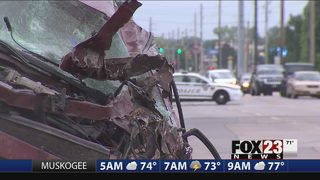 Man critical after single-car crash in south Tulsa