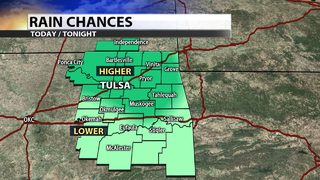 Showers and storms move through Green Country