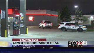 Police investigating armed robbery at south Tulsa QuikTrip