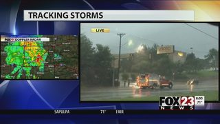 Road buckles due to heavy rain, power outages in Tulsa area
