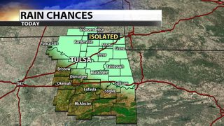 Isolated rain chances before drying out