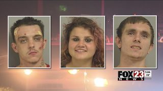 Three people in jail after police chase across Tulsa