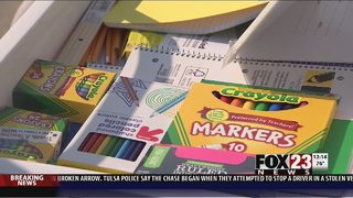 Donations help over 200 north Tulsa students get school supplies