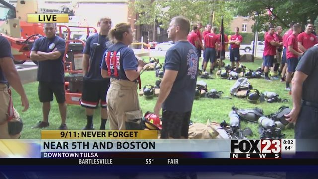 REMEMBERING 9/11: Tulsa firefighters honor 9/11 victims   FOX23