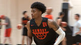Oklahoma State basketball player Michael Weathers during practice.