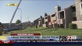 VIDEO: Firefighters work to control south Tulsa apartment fire