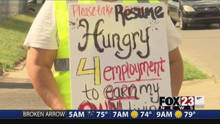HUNGRY FOR WORK: Some at Muskogee