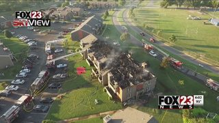 Building evacuated due to fire at Riverchase Apartments