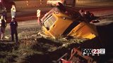 VIDEO: Driver dead after tow truck crashes into ravine on Turner Turnpike