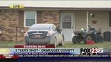 VIDEO: One dead, two hospitalized in triple shooting in Okmulgee County