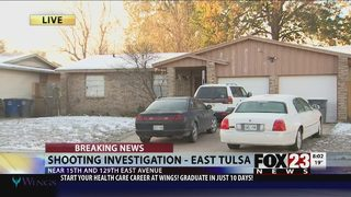 One man shot at east Tulsa home