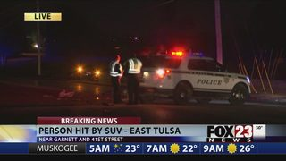 Police investigating after man hit by SUV in east Tulsa