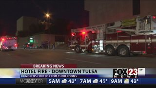 VIDEO: Guests relocated after hotel fire