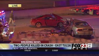 VIDEO: Two dead after crash in east Tulsa