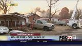 VIDEO: Home destroyed by fire in Collinsville