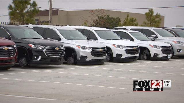 Details Wheels Stolen Off Several Vehicles At Ba Dealership Fox23
