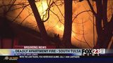 VIDEO: One person dies in south Tulsa apartment fire