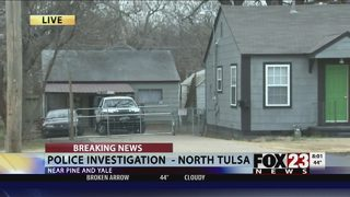 One man injured, police search for evidence of possible shooting in north Tulsa