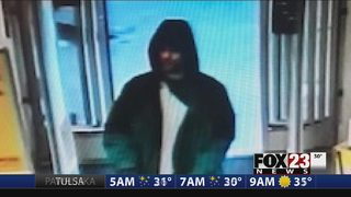Tulsa police searching for man accused of tying up clerk during pharmacy robbery