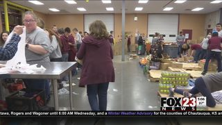 VIDEO: Oklahoma food bank providing food to federal employees during government shutdown
