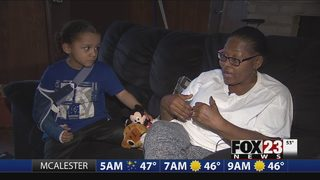 VIDEO: Woman and grandson survive roll-over accident on I-44