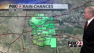 Storm threat pushes east today, dry start to the week
