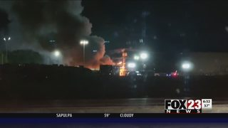 Firefighters investigating fire at west Tulsa RV dealership