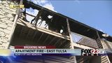 VIDEO: East Tulsa apartments destroyed by fire