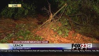 Crews search for storm damage in Delaware County