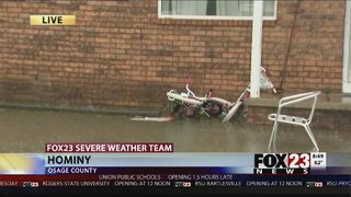 Severe flooding prompts water rescues in Hominy