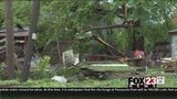 VIDEO: Storm damage cleanup in north Tulsa