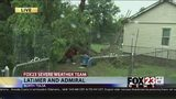 VIDEO: Tree hits home in north Tulsa