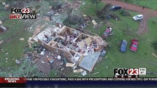 National Weather Service surveys EF-2 tornado damage in Jay