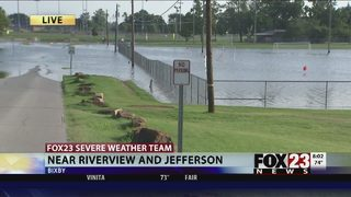 VIDEO: Tracking floodwater rising in Bixby