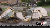 VIDEO: Tornado clean-up still underway in Sapulpa
