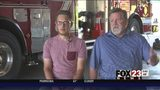 VIDEO: Two recognized for saving driver who crashed at south Tulsa park