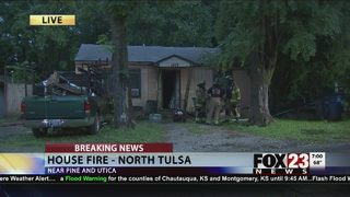 Man escapes house fire in north Tulsa
