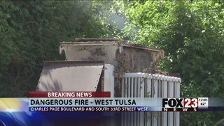 Copper theft leads to dangerous transformer fire in west Tulsa