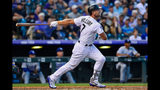 Matt Holliday #7 of the Colorado Rockies follows the flight of a second inning solo homerun off of Clayton Kershaw #22 of the Los Angeles Dodgers at Coors Field on September 7, 2018 in Denver, Colorado. (Photo by Dustin Bradford/Getty Images)