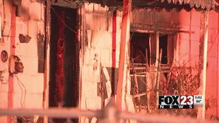 Fire officials investigate after same Turley home burns twice in one night