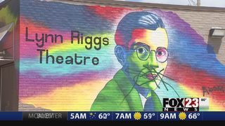 Vandals caught on video targeting Lynn Riggs Memorial Mural at Equality Center