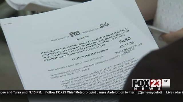 Oklahoma petitioners collecting signatures to prevent