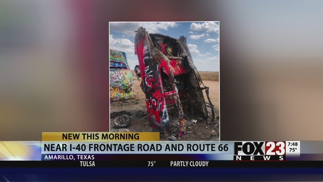 ICON TARGETED: Route 66 landmark targeted by arsonist   FOX23