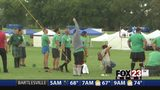 VIDEO: Athletic events underway at 40th annual Scotfest in Broken Arrow