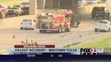 VIDEO: Woman dead after crash on I-44 in midtown Tulsa
