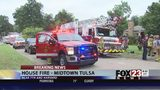 VIDEO: Firefighters respond to house fire in midtown Tulsa