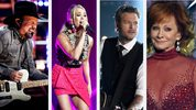 Garth Brooks, Carrie Underwood, Blake Shelton, Reba McEntire